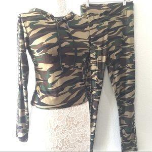 🖤Legging / cropped hoodie 2-piece set